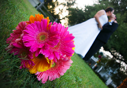 Flowers and kiss by JGM Photography
