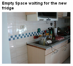 where the fridge will go