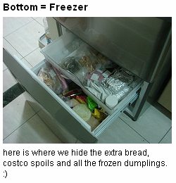 bottom, freezer