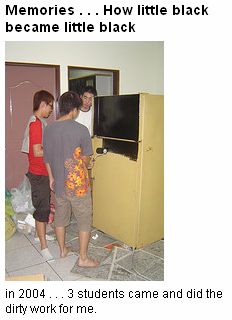 painting the fridge (2004)